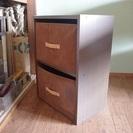 2段カラーボックス 収納BOX付き 値下げ