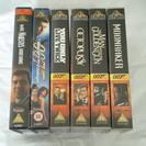 イギリス版ビデオテープ 007シリーズ6本