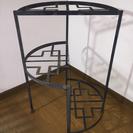 ガーデニング用 金属製飾り棚 丸型