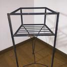 ガーデニング用 金属製飾り棚 角型