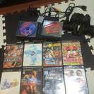 【取引中】PS2本体、カセット10種類、コントローラ3個、メモリーカード