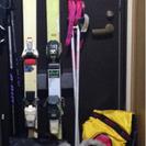 スキー板175×2、ブーツとアクセ、カバー2、帽子手袋9点セット