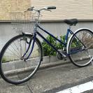 中古自転車 27インチ 青 LEDライト