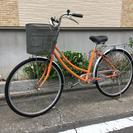 中古自転車 26インチ オレンジ 3変速付き