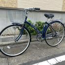 中古自転車 27インチ ブルー 6ギア変速付き