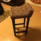 アジアンインテリア アジアン家具カウンター椅子 美品