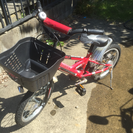 16インチの子供用自転車です。