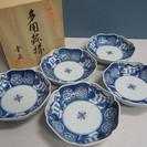 【幸泉】多用鉢揃◆皿◆鉢◆5枚セット◆染付◆和柄◆未使用品