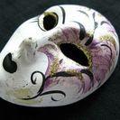 アンティーク蚤の市☆陶器の壁掛仮面 フランス 国内発送