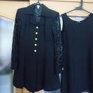 美品 黒ワンピース スーツ