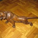 交渉中 鋳物製トラの置物