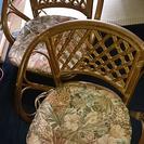 籐椅子2脚
