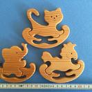 手作り木製パズル シーソー