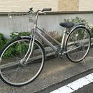 中古自転車 27インチ シルバー オートライト 変速付き!