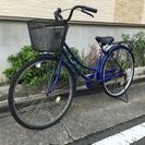 中古自転車 27インチ ブルー !