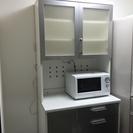 必見!有名家具店の鏡面キッチン収納+Panasonic電子レンジN...