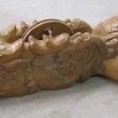 【墨つぼ】特大◆龍◆亀◆鶴◆全長約120cm◆木製◆彫刻