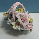 【フラワーアレンジメント】樹脂製◆花◆花籠◆難有り