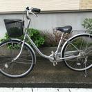 中古自転車 26インチ シルバー!