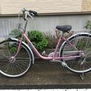 中古自転車 26インチ 変速付き オートライト ピンク!