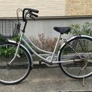 中古自転車 26インチ シルバー!!