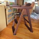 木製ベビーハイチェアー ワンタッチ折りたたみ式
