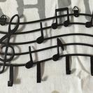 音符のキーフック 2個
