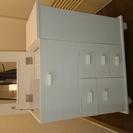 白いコスメワゴン 木製 コスメボックス メイクボックス