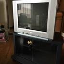 ブラウン管テレビ21型 地デジチューナー、台付き