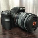 ソニー Sony α200 18ー55mm バッテリーグリップ付