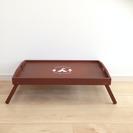 *【新品】折りたたみ木製テーブル ベッドトレイ 座卓 ピクニック/BBQ
