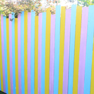 【渋谷区】木材・カラフルな木製のフェンス【手渡し】