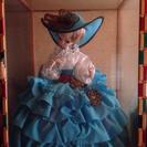 フランス人形 ケース付き リボン