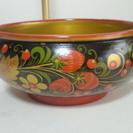 ロシア(ソビエト)ホフロマ塗り食器 ボール