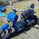 不動 ジャンク 中華トライク ズーマー型 青 150cc 二人乗り可能!