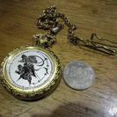 時220  珍しい懐中時計 クオーツ 動作品 送料無料