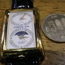 時225 珍品コリアンエアー2カ国時計 電池新品 送料無料