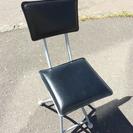 折りたたみ パイプ椅子 黒