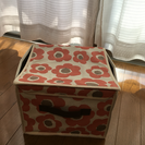 3coins 花柄収納ボックス【5つで500円】