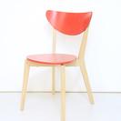 【渋谷区】赤色の椅子の2個セット【...
