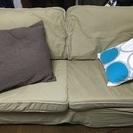 【値下げしました】【美品!】IKEA ソファ2.5人掛け ベージュ