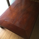 和机(赤茶色、脚に模様あり)座卓