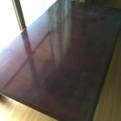 和机(天然木化粧合板、漕い焦げ茶色) 座卓