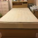 収納付きシングルベッド、マットレス込
