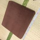ベロア 低反発座布団 ブラウン 40cm x 40cm 8/31午前限定