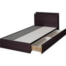 ニトリ 収納付きベッド セミダブル