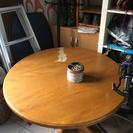 丸いテーブル 天板取外し可能