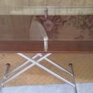 ガラステーブル 高さ調整可能
