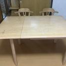 折りたたみダイニングテーブル&回転イス2脚 【miyuママ様専用】