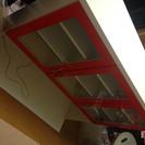 【急募】オシャレで赤い食器棚